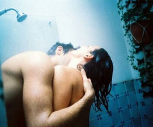 boy, shower, and girl image