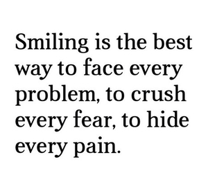 quote, smile, and true image