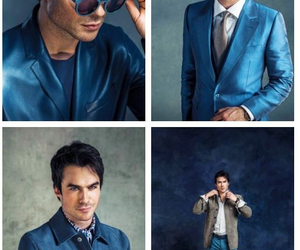 beautiful, blue, and ian somerhalder image