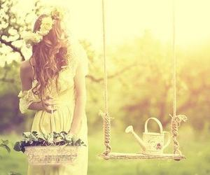 beauty, garden, and dress image