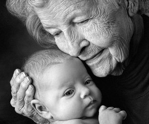baby, family, and grandmother image