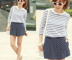 lookbook, outfit, and polka dots image