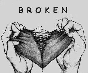 broken, fucking love, and girl image