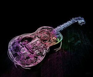 colorful, cool, and guitar image