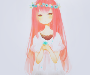 anime, flowers, and kawaii image