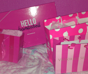 bags, pink, and shopping image