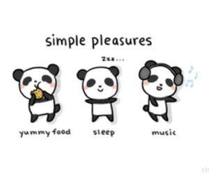 panda, music, and sleep image