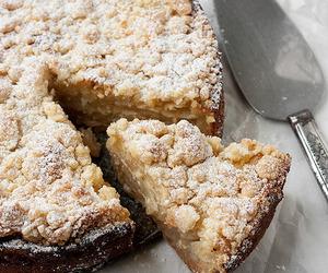 cake, food, and apple image