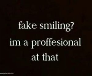 smile, fake, and quote image