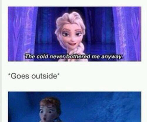 frozen, cold, and elsa image