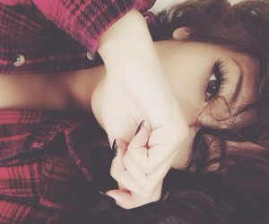 eyes, nails, and flannel image