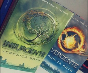 books, divergent, and love image