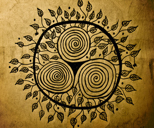 symbol, celtic, and leaves image
