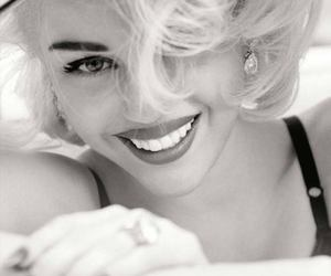 black and white, smile, and miley cyrus image