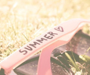 summer, pink, and sunglasses image