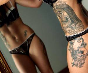 girl, Tattoos, and ink image