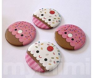 botton, candy, and cupcake image