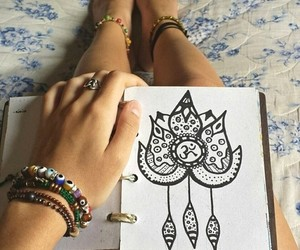 drawing, draw, and bracelet image
