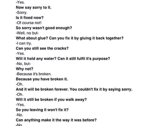 broken, quote, and sorry image