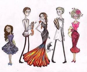 tim burton, the hunger games, and effie image