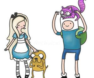 alice, finn and jake, and drawing image