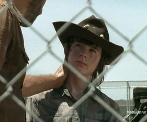 carl, season 4, and prison image