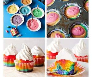 cupcake, rainbow, and color image
