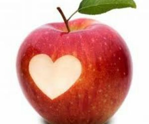 apple, love, and heart image