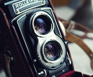 bokeh, camera, and Rolleiflex image