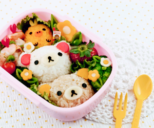 cute, bento, and food image