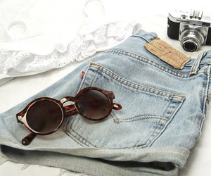 fashion, shorts, and sunglasses image