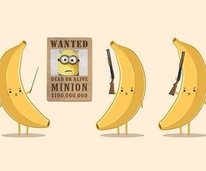 bananas, minion, and cartoon image