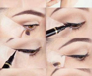 makeup, diy, and eyeliner image