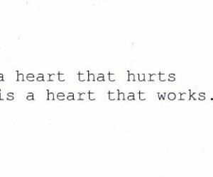 heart, quote, and hurt image