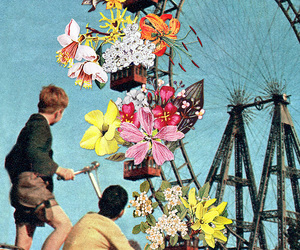 Collage, collage art, and flowers image