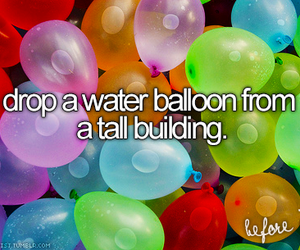 water, before i die, and balloons image