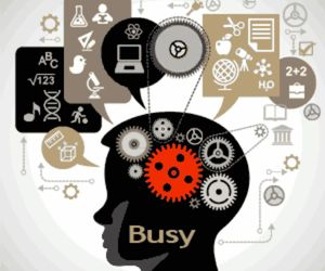 brain and busy image