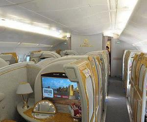 airplane, luxurious, and wow image