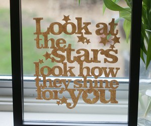 quote, coldplay, and stars image