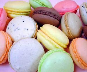 macarons, macaroons, and sweet image