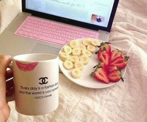 banana, chanel, and healthy image