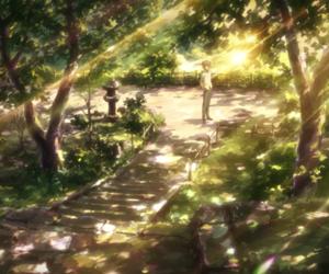 anime, scenery, and nerawareta gakuen image