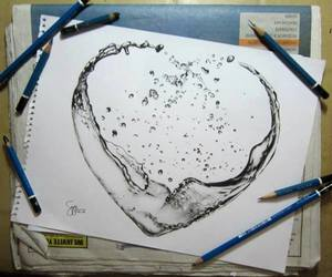 water heart image