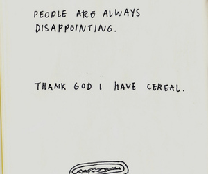 cereal, people, and text image
