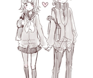 couple and kagamine image