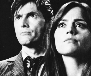 david tennant, doctor who, and jenna louise coleman image