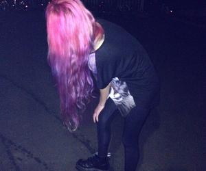 grunge, hair, and pink image