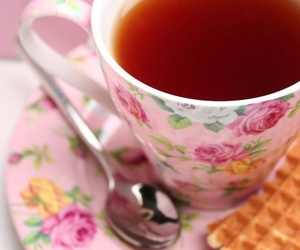 tea, cup, and flower image
