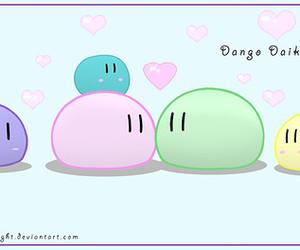 anime, japanese, and dango image