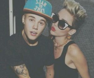 idols, belieber, and miley and justin image
